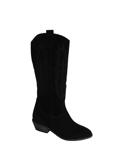 Derigo Kısa Topuklu Çizme Siyah